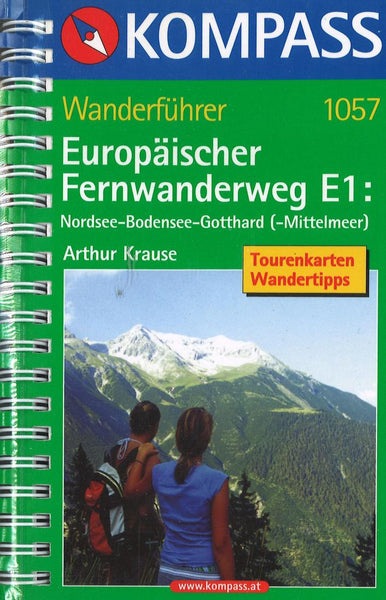 Cover of North Sea - Lake Contstance - Gotthard - Mittelmeer Hiking Guide Hiking Map By Kompass