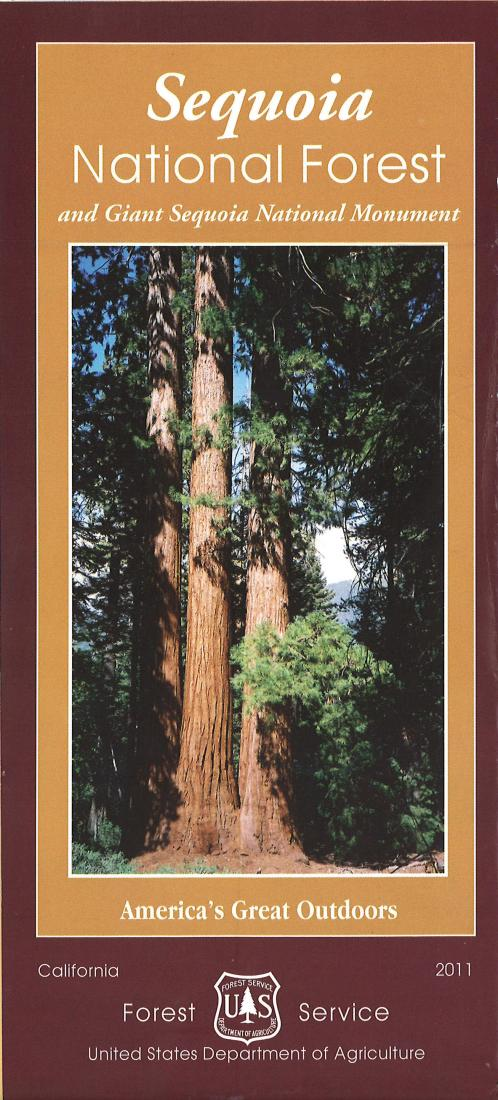 Cover of Sequoia National Forest Map by U.S. Forest Service