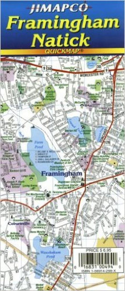 Cover of Framingham/Natick, Massachusetts, Quickmap by Jimapco