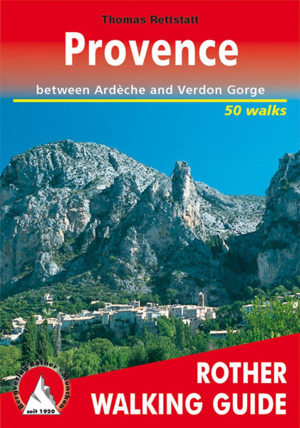Cover of Provence, Walking Guide by Rother Walking Guide