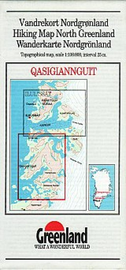 Cover of Qassigiannguit Hiking Map by Greenland Tourism