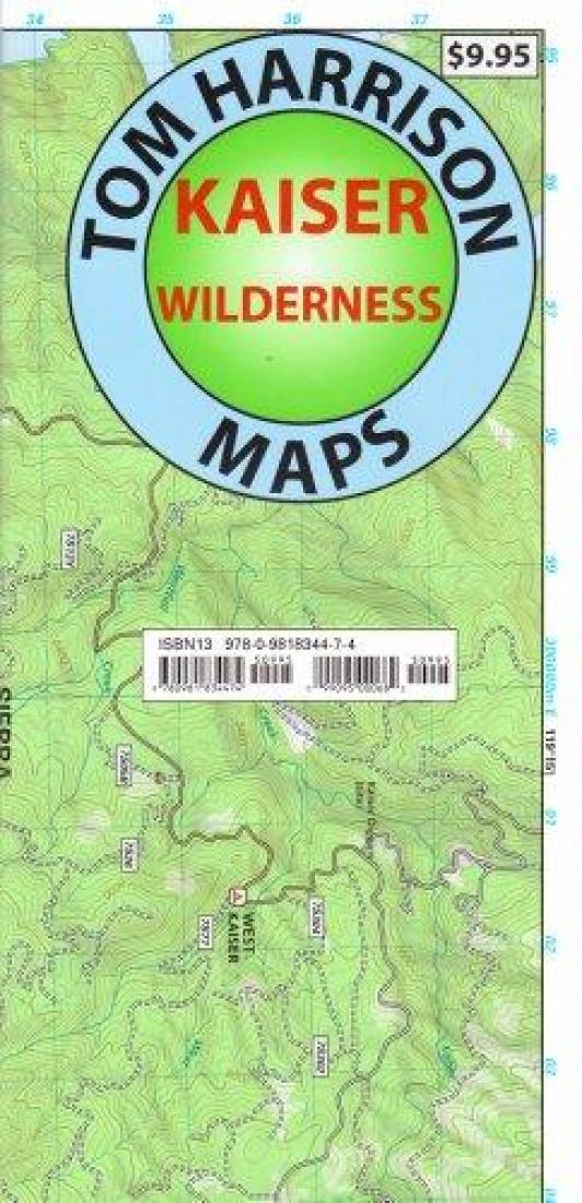 Cover of folded Map of Kaiser Wilderness by Tom Harrison Maps