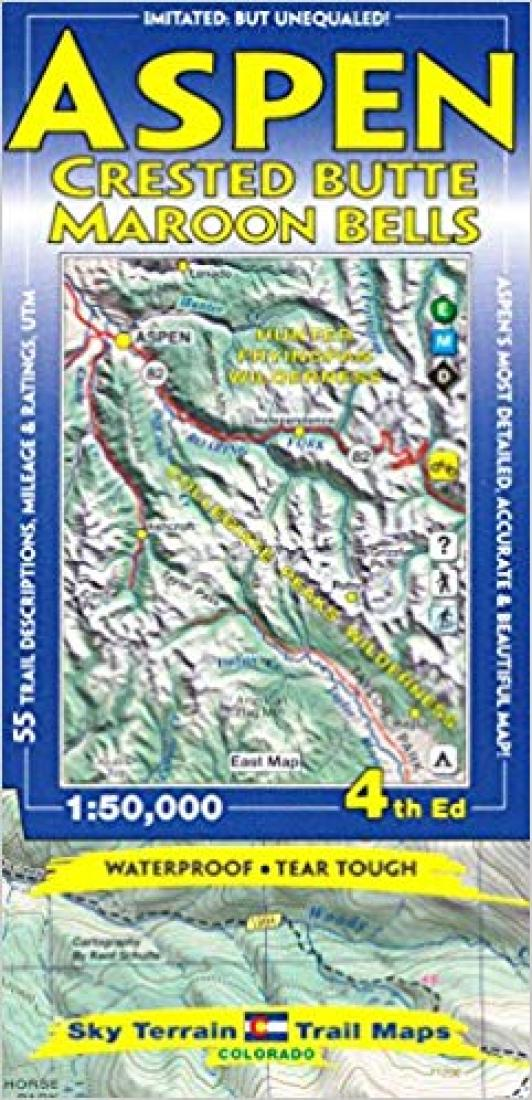Cover of Aspen, Crested Butte & Maroon Bells Hiking Map by Sky Terrain