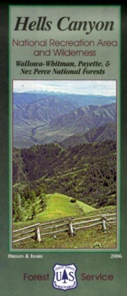 Cover of Hells Canyon National Recreation Area and Wilderness Map by U.S. Forest Service