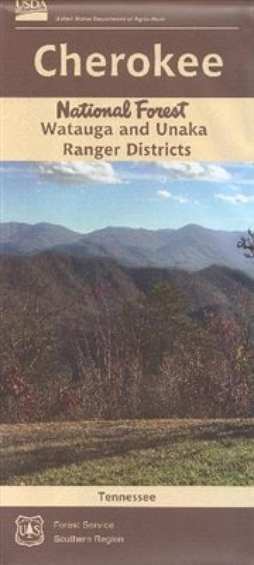 Cover of Cherokee National Forest (North) - Watauga and Unaka Ranger Districts Map by U.S. Forest Service