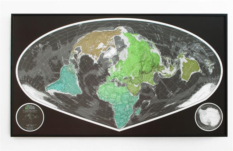 Cover of Sinu Mollweide World Map Version 1 by Future Mapping Company