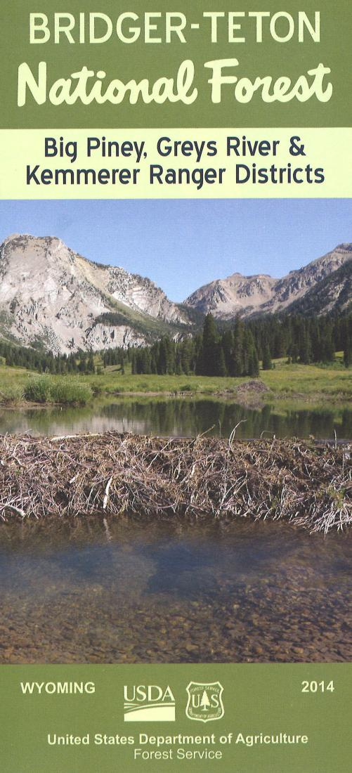 Cover of Bridger-Teton National Forest Map - Big Piney, Greys River, Kemmerer Ranger Districts Map by U.S. Forest Service