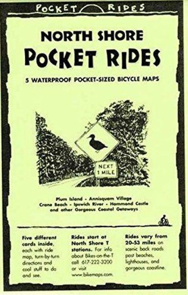 Cover of Massachusetts, North Shore, Bicycle Map