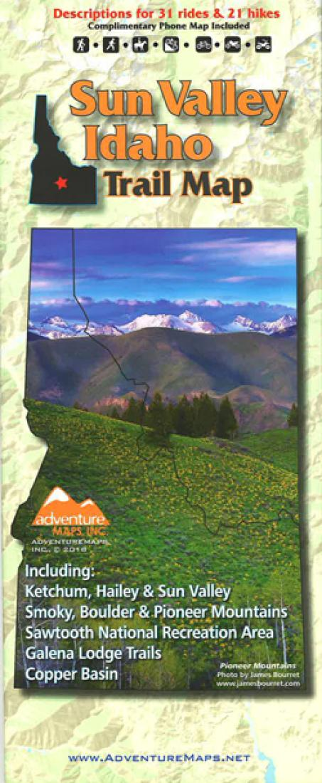 Cover of Sun Valley, Idaho, Trail Map by Adventure Maps