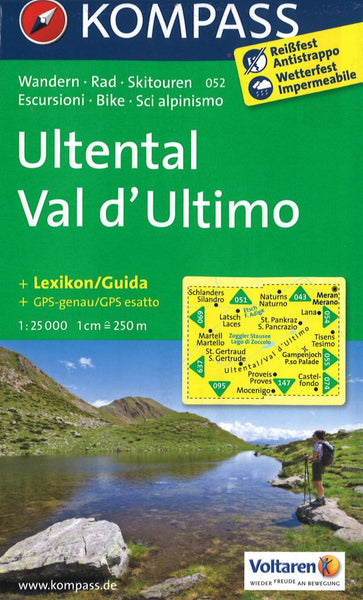 Cover of Ultental/Val d'Ultimo Hiking Map By Kompass