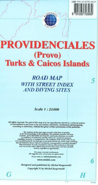 Cover of Providenciales (Provo), Turks & Caicos Islands, Road Map