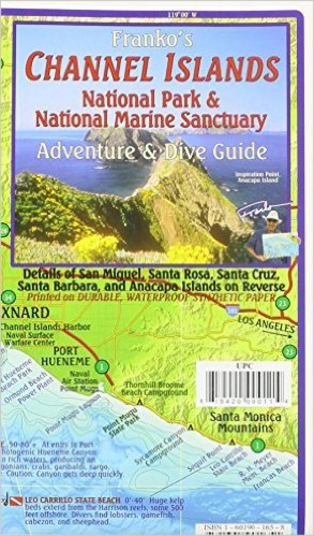 Cover of California Map & Dive Guide, Channel Islands