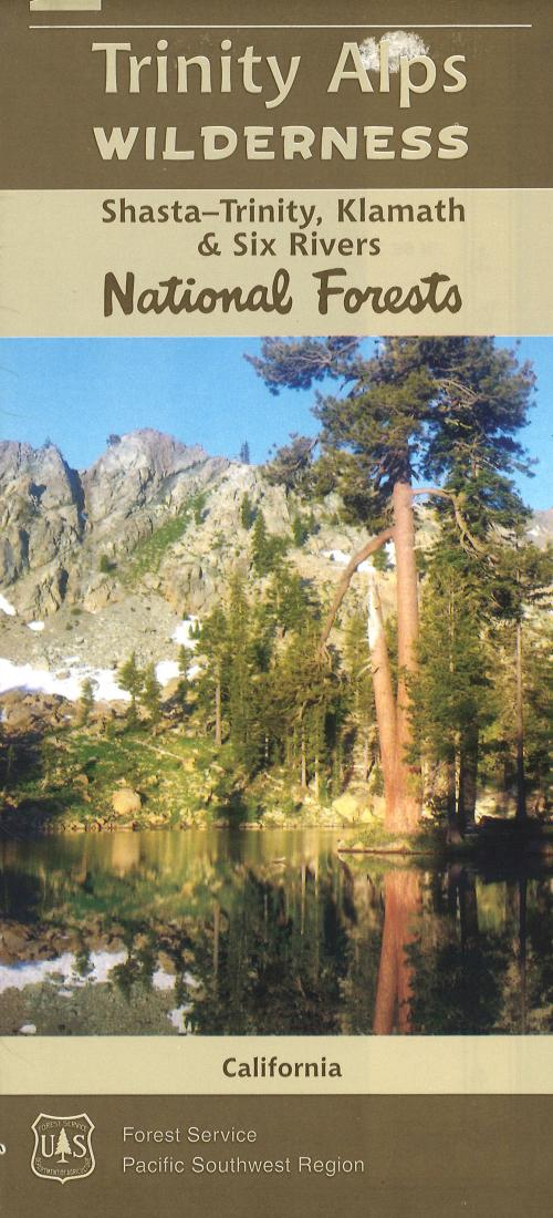 Cover of Trinity Alps Wilderness Area Map by U.S. Forest Service