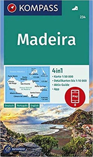 Cover of Madeira Hiking Map By Kompass