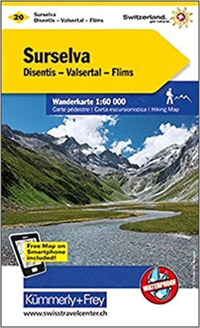 Cover of Surselva : Switzerland Hiking Map #20 by Kummerly + Frey