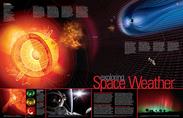 Cover of Exploring Space Weather by National Geographic Maps