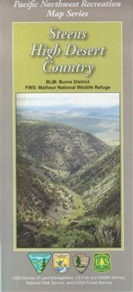 Cover of Steens High Desert Country Map by U.S. Forest Service