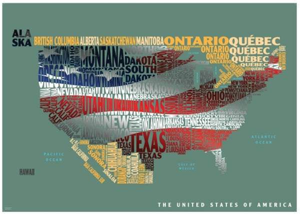 Cover of Graphic Map USA flag by Oxford Cartographers