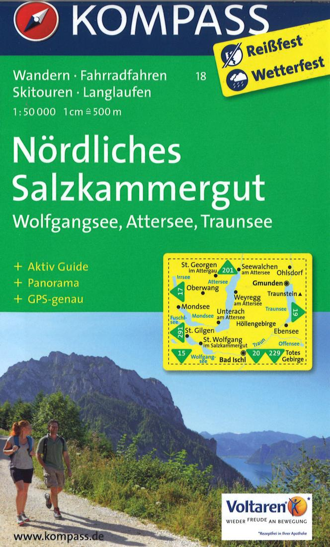Cover of Nordliches Salzkammergut Hiking Map By Kompass