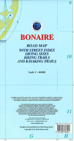 Cover of Bonaire, Dutch Caribbean, Road Map