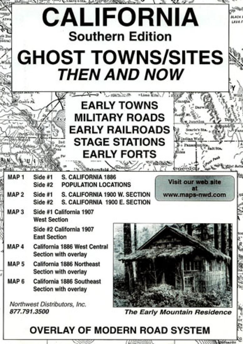 Cover of California, South, Ghost Towns, 6-Map Set, Then and Now
