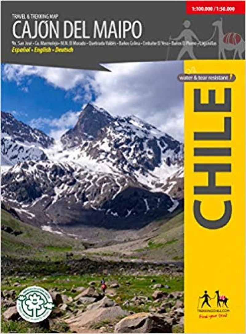 Cover of Cajon Del Maipo - Travel & Trekking Map by Trekking Chile