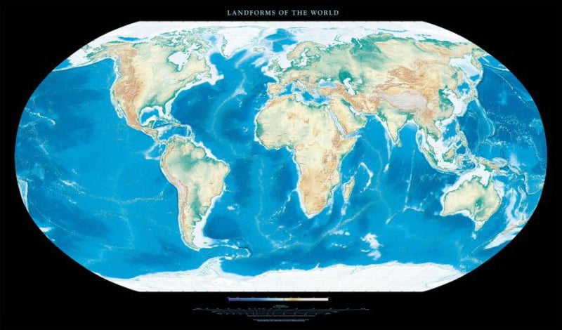 Cover of Landforms of the World Laminated by Raven Maps
