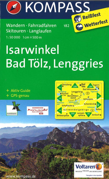 Cover of Isarwinkel Bad Tolz, Lenggries Hiking Map By Kompass