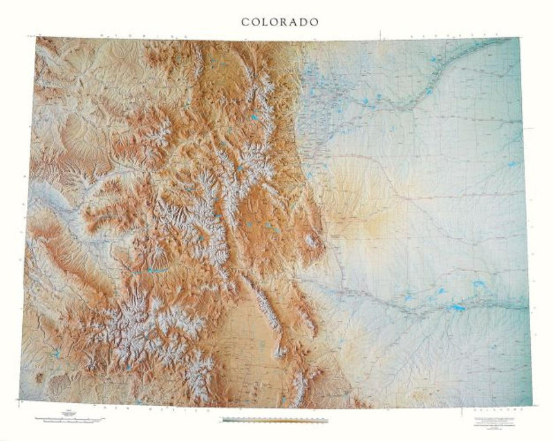 Cover of Colorado Physical Laminated Wall Map by Raven Maps