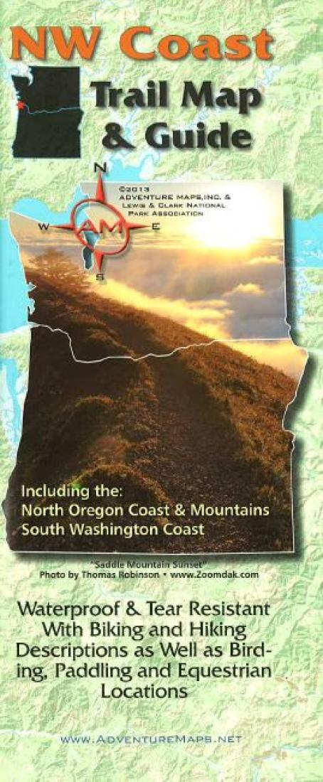 Cover of NW Coast Trail Map and Guide by Adventure Maps
