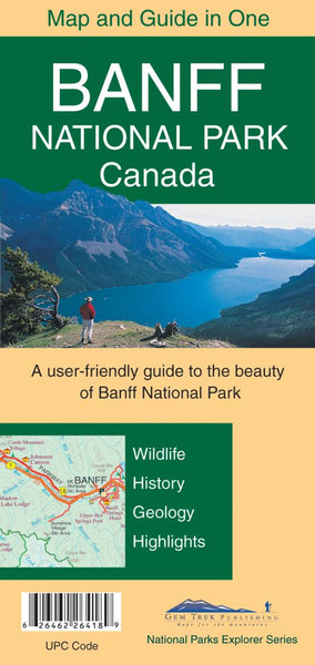 Cover of Banff National Park Canada Map and Guide in One