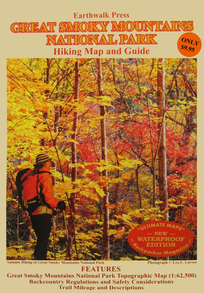 Cover of Great Smoky Mountains National Park, Tennessee and North Carolina  Hiking Map & Guide