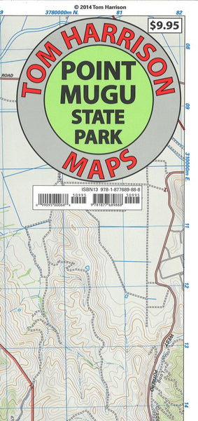 Cover of folded Map of Point Mugu State Park, California by Tom Harrison Maps