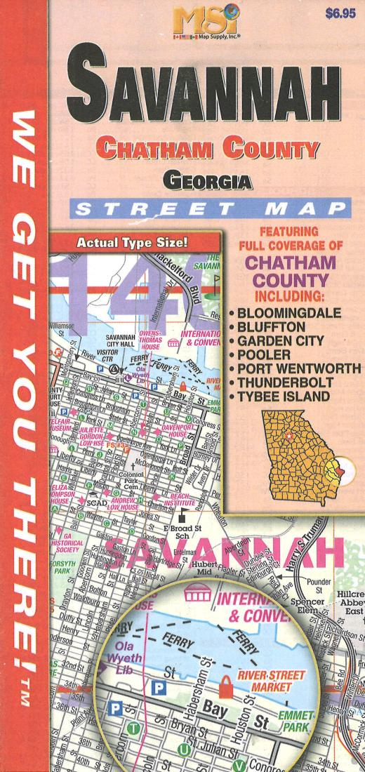 Cover of Savannah and Chatham County Street Map by Map Supply, Inc.