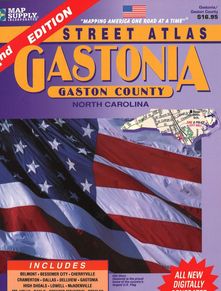 Cover of Gastonia & Gaston County, North Carolina Atlas by Apple Valley Publishing