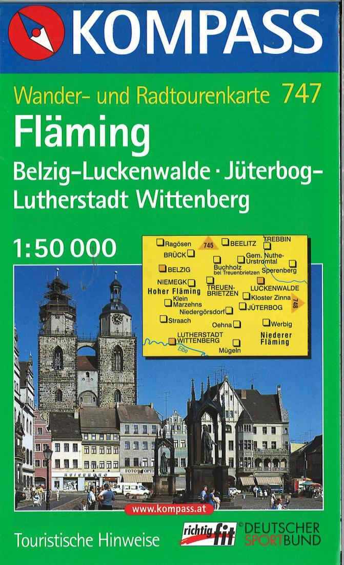 Cover of Flaming Hiking Map By Kompass