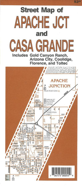 Cover of Street Map of Apache Junction and Casa Grande, Arizona by North Star Mapping