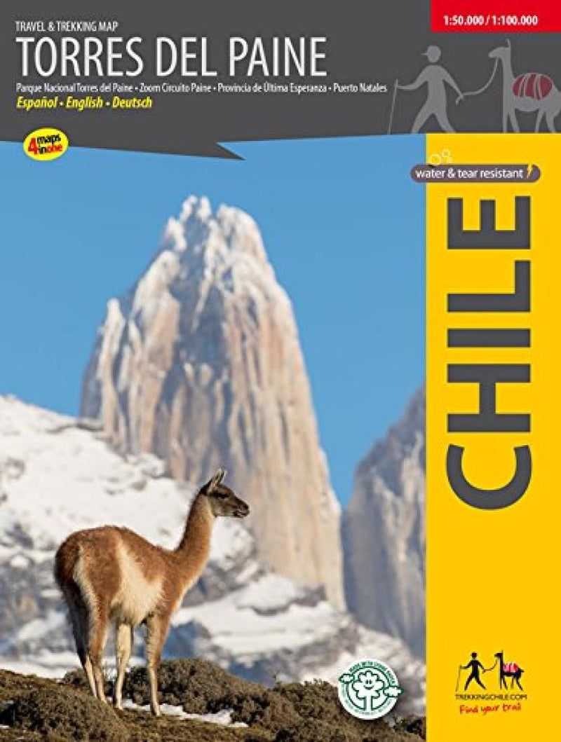 Cover of Torres del Paine, Travel & Trekking Map by Trekking Chile
