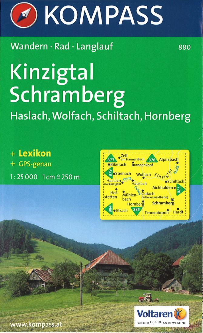 Cover of Kinzig & Schramberg Hiking Map By Kompass