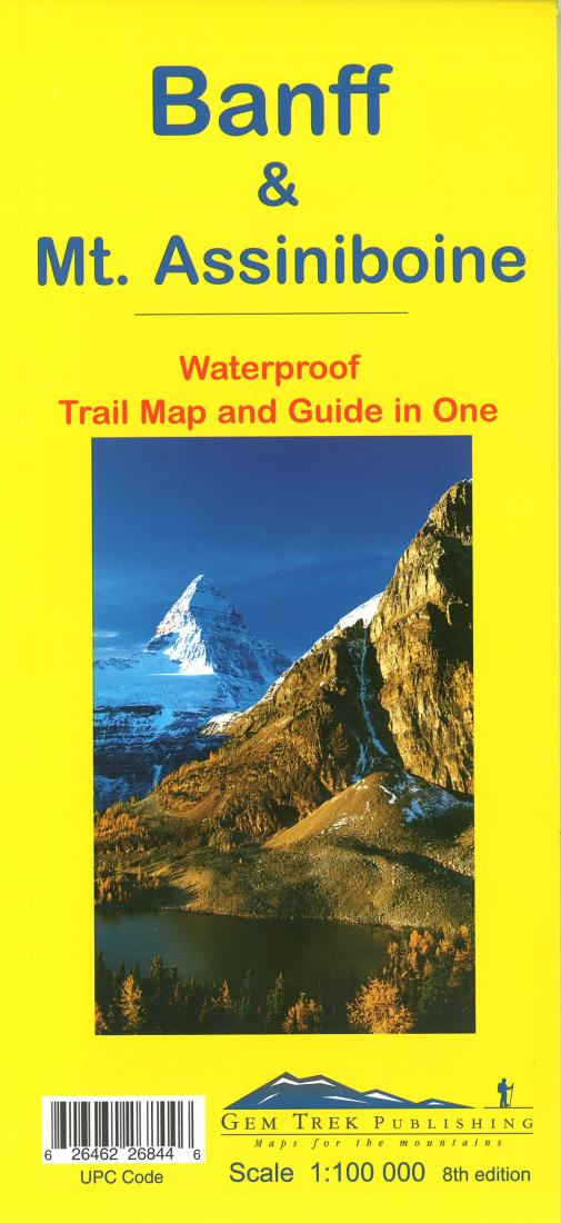 Cover of Banff National Park & Mount Assiniboine Trail Map and Guide in One