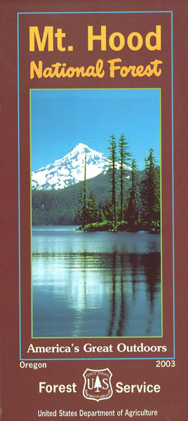 Cover of Mt. Hood National Forest Map by U.S. Forest Service