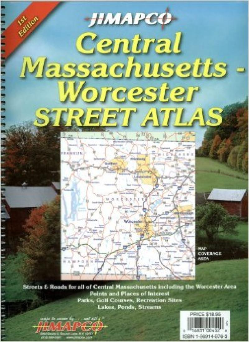 Cover of Massachusetts, Central, Atlas by Jimapco