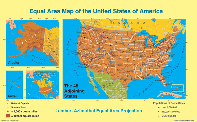 Cover of United States, Equal Area Projection, laminated