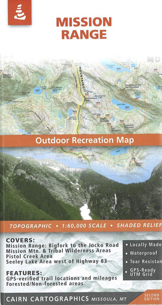 Cover of Mission Range Outdoor Recreation Map  By Cairn Cartographics