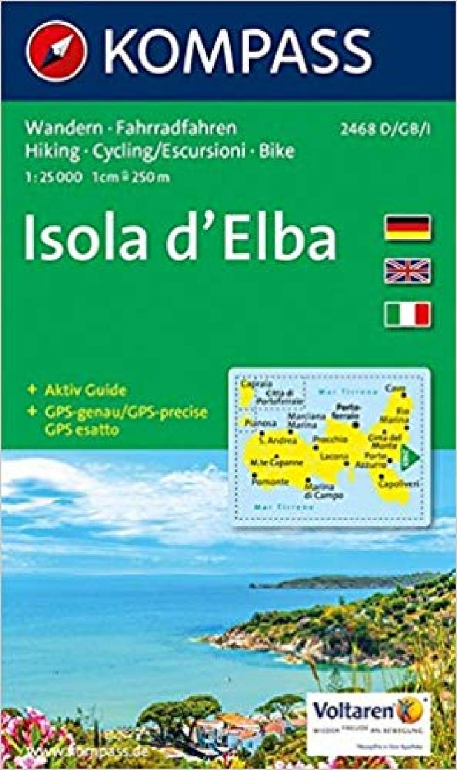 Cover of Isola d'Elba Hiking Map By Kompass