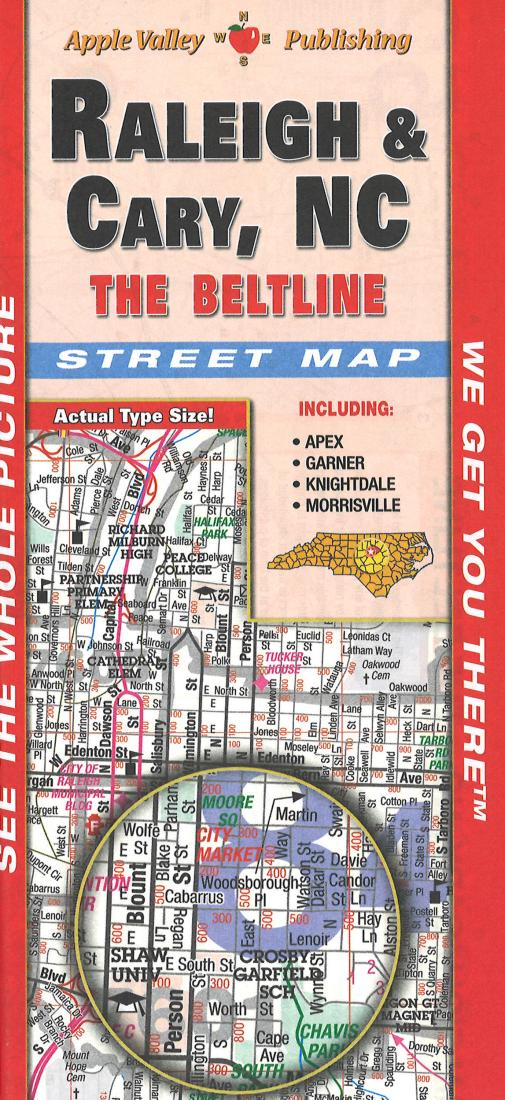 Cover of Raleigh, Cary, & Wake County NC Street Map by Map Supply, Inc.