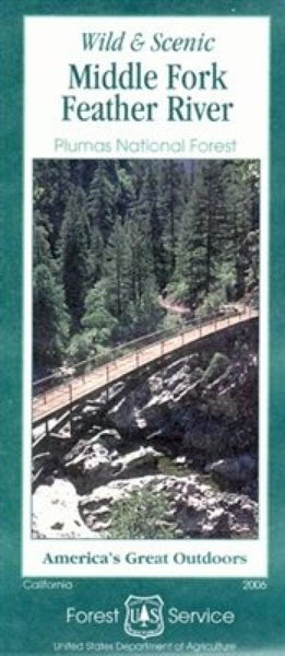 Cover of Middle Fork of the Feather River Map by U.S. Forest Service