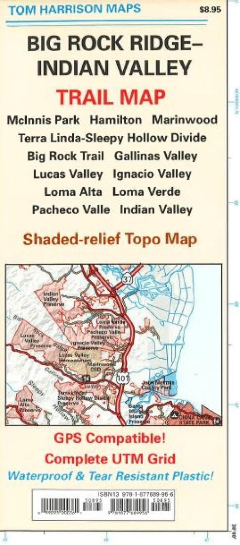 Big Rock Ridge and Indian Valley California Trail Map by Tom Harrison Maps