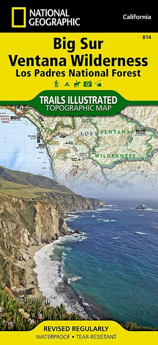Big Sur, Ventana Wilderness and Los Padres National Forest, by National Geographic Maps