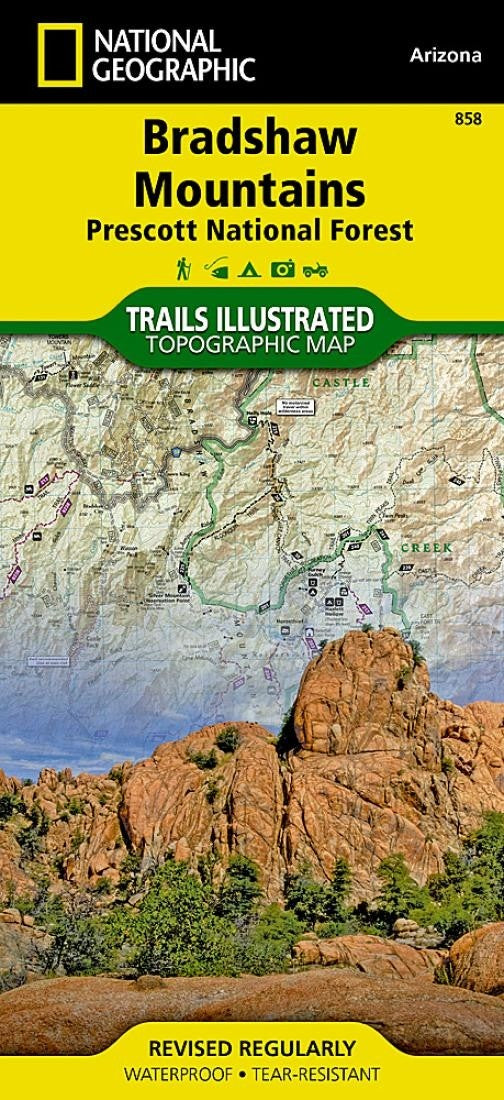 Bradshaw Mountains and Prescott National Forest, AZ, Map 858 by National Geographic Maps